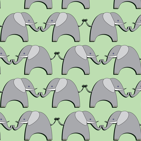 Ellifriends - mint fabric by bippidiiboppidii on Spoonflower - custom fabric