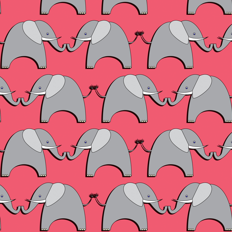 Ellifriends - pink fabric by bippidiiboppidii on Spoonflower - custom fabric