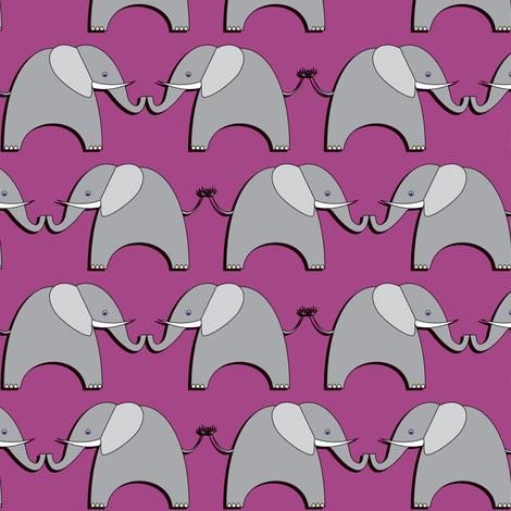 Ellifriends - purple fabric by bippidiiboppidii on Spoonflower - custom fabric