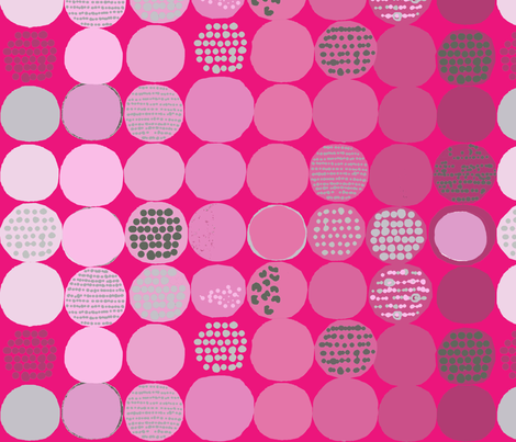afro_circles_pink fabric by katarina on Spoonflower - custom fabric