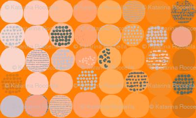afro circles orange