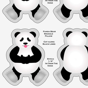 Snuggle Panda Pillow