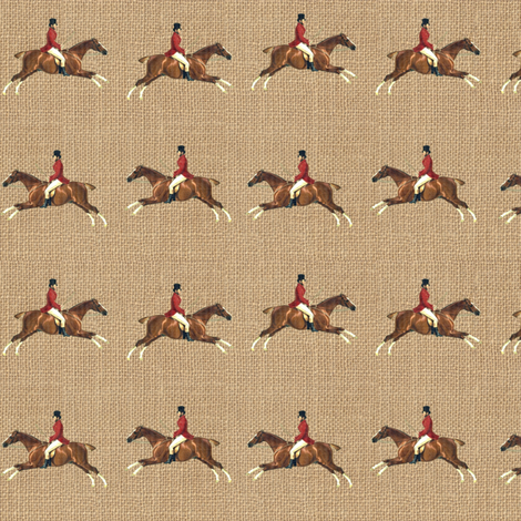 Hunters on Linen fabric by ragan on Spoonflower - custom fabric