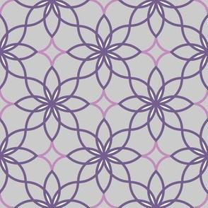 Geo flower - purple