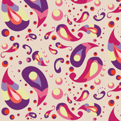 Pink Funky Paisley