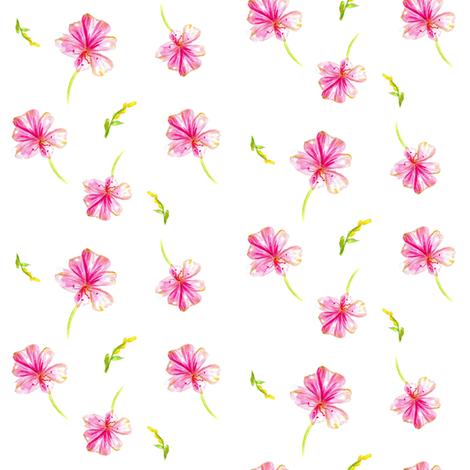 Geranium Bloom fabric by countrygarden on Spoonflower - custom fabric