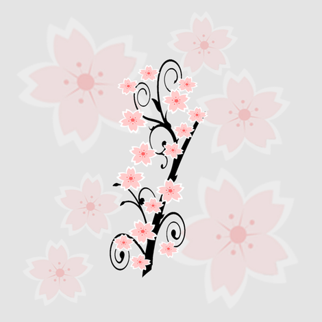 cherry blossoms fabric by krs_expressions on Spoonflower - custom fabric