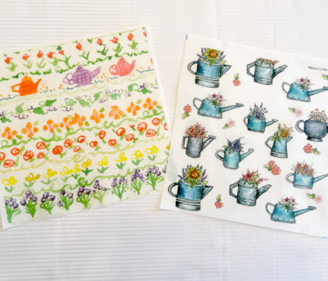 Teapot Flower Sampler