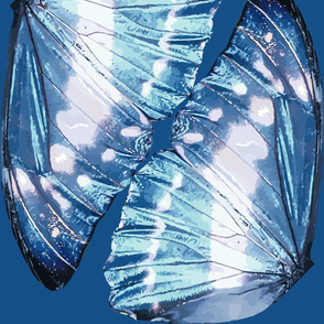 Blue Monarch Butterfly Wings - special size order