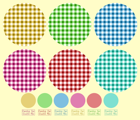 Canning Jar Recipe Rounds fabric by cherie on Spoonflower - custom fabric