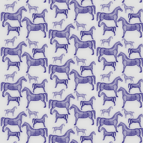 Antique Toy Horses fabric by ragan on Spoonflower - custom fabric