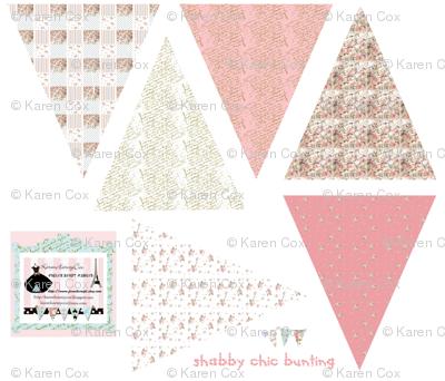 Shabby Chic small Bunting fabric