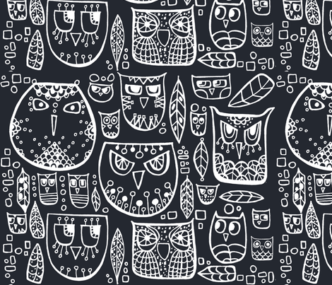 OWLs from Greenland fabric by livaurora on Spoonflower - custom fabric