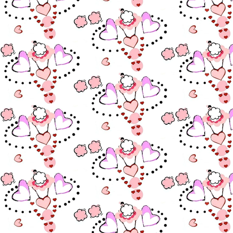 Valentines ice cream delight -2 fabric by dk_designs on Spoonflower - custom fabric