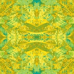 Croton Leaves-green/teal