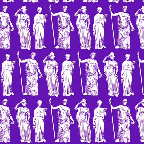 Kolonaki Goddess - Violet fabric by siya on Spoonflower - custom fabric