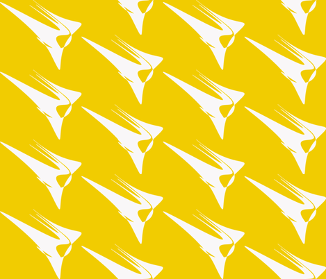 Wing On Yellow fabric by mikep on Spoonflower - custom fabric