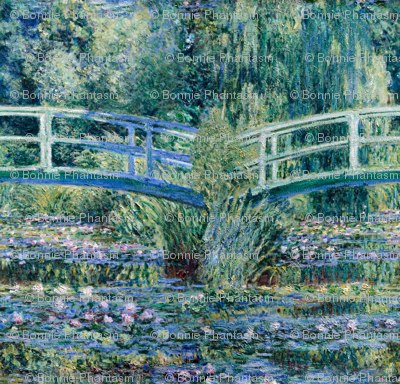 Claude Monet - Water Lilies and Japanese Bridge - SeamlessTile