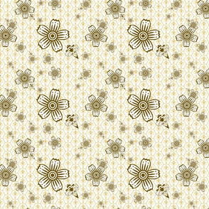 Abstract Bees and Flowers