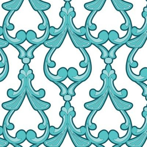 Decorative Teal Damask