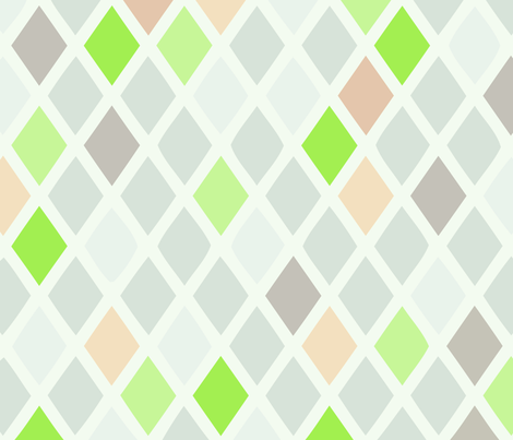 harlequin green fabric by myracle on Spoonflower - custom fabric