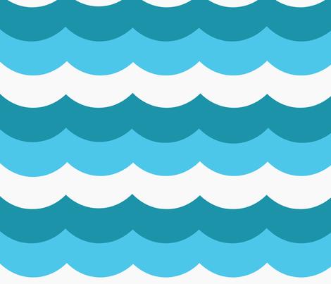 oceanwaves fabric by myracle on Spoonflower - custom fabric