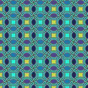 peacock coordinate oval geometric