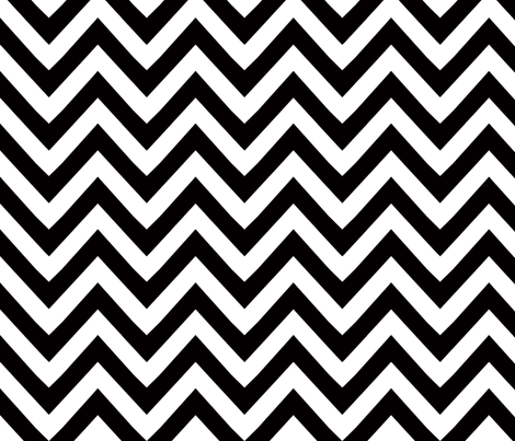 chevron black and white fabric by katarina on Spoonflower - custom fabric