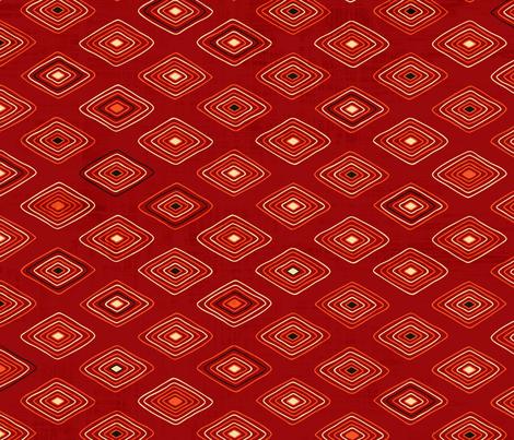 Ghanaian Blooms - sunset diamonds fabric by jennartdesigns on Spoonflower - custom fabric
