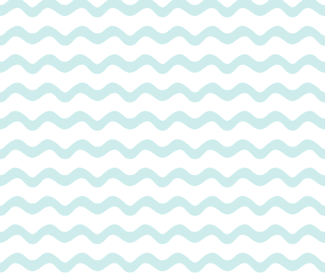 Stormy Sea Stripe (lt. aqua + white) fabric by pattyryboltdesigns on Spoonflower - custom fabric