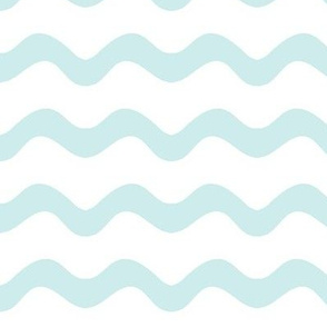 Stormy Sea Stripe (lt. aqua + white)