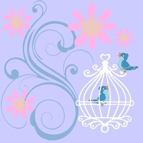 birdcages blue