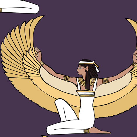 The goddess Isis fabric by pond_ripple on Spoonflower - custom fabric