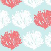 Seaweed Love (lt. aqua, salmon + white)