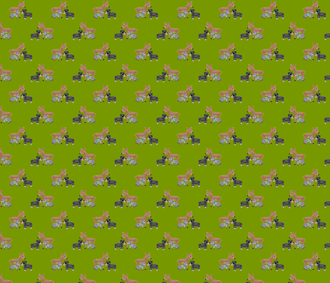 Forest Friends fabric by inkwolf on Spoonflower - custom fabric