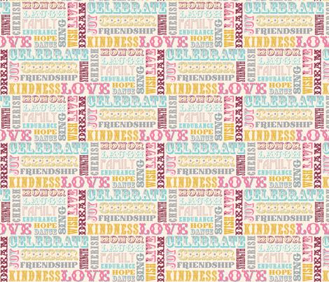 WORDS_IVORY fabric by natasha_k_ on Spoonflower - custom fabric