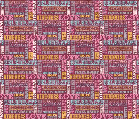 WORDS_BURGUNDY fabric by natasha_k_ on Spoonflower - custom fabric