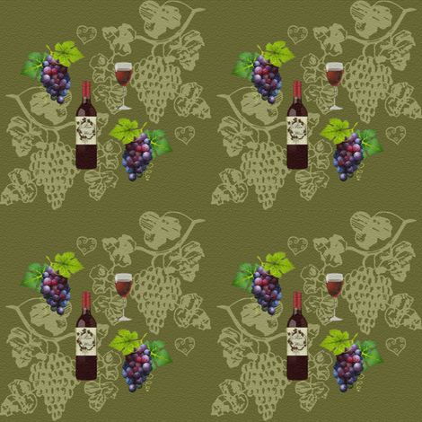 wine and grapes fabric by krs_expressions on Spoonflower - custom fabric