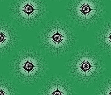 Tex Dots - Green fabric by telden on Spoonflower - custom fabric