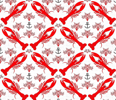 lobster_red fabric by holli_zollinger on Spoonflower - custom fabric