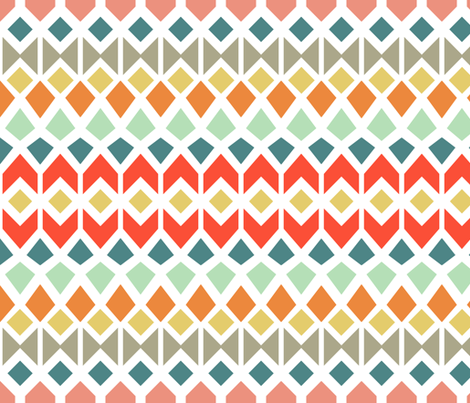 Mosaic fabric by elephantandrose on Spoonflower - custom fabric