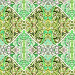 Old Fashioned Twisted Paisley Victorian (in green)