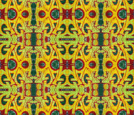 Green and Gold Graffiti fabric by mikep on Spoonflower - custom fabric