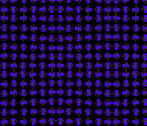 Molecules (Dark) fabric by ravynscache on Spoonflower - custom fabric