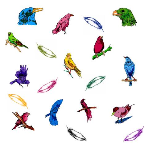 Birds of the Rainbow fabric by ravynscache on Spoonflower - custom fabric