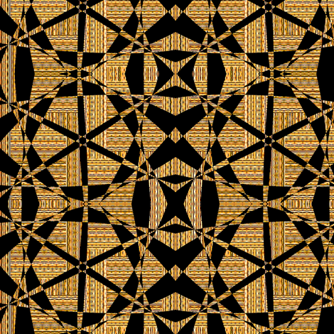 Multi Interstripe - Yellow With Black Cutouts fabric by telden on Spoonflower - custom fabric