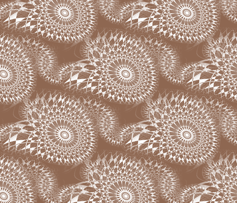 Frostfairy Tracks - Tan fabric by telden on Spoonflower - custom fabric