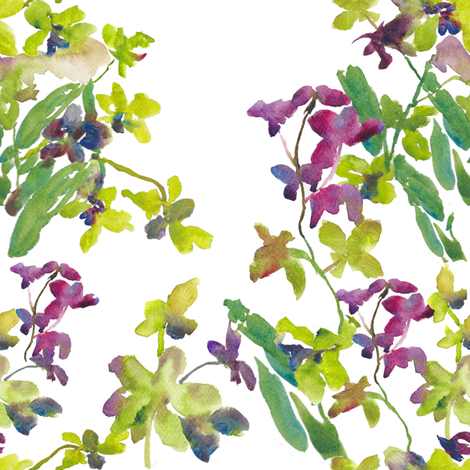 Orchids fabric by susan_magdangal on Spoonflower - custom fabric