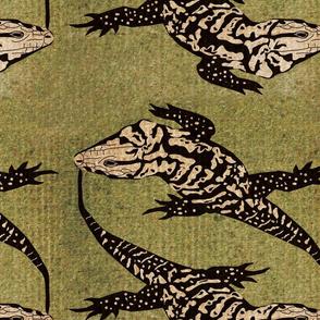 Tegu - Green Background-ed