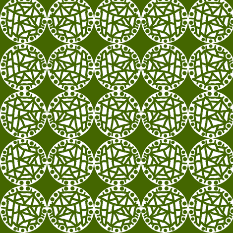 Retro Circle Stamp - Olive fabric by telden on Spoonflower - custom fabric